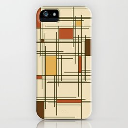1940s Abstract Art Lines iPhone Case
