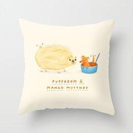 Puppadom & Mango Muttney Throw Pillow