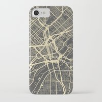 dallas iPhone & iPod Cases featuring Dallas map by Map Map Maps
