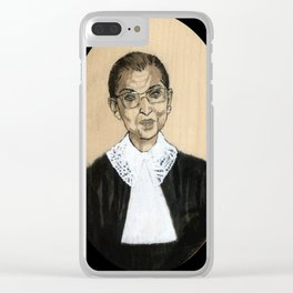 Ruth Bader Ginsburg Clear iPhone Case