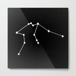 AQUARIUS (BLACK & WHITE) Metal Print