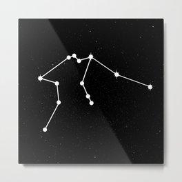 AQUARIUS (BLACK & WHITE) Metal Print