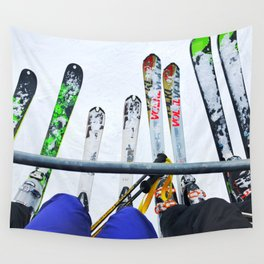 Ski All Day Wall Tapestry