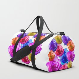 spring time rainbow roses Duffle Bag