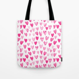 Hearts Pattern watercolor pink heart perfect essential valentines day gift idea for her Tote Bag