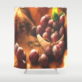 Fresh Grapes food Collection Shower Curtain