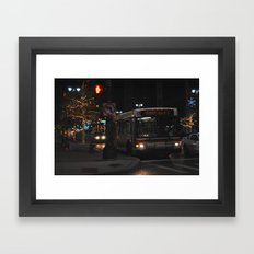 Detroit Bus Framed Art Print