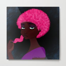 Afro Shrinkage Metal Print