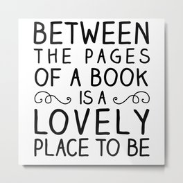Between the Pages Metal Print