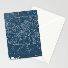 Minsk Blueprint Street Map, Minsk Colour Map Prints Stationery Cards