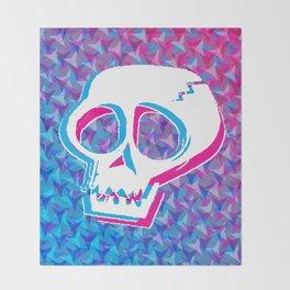 Cracked Skull Throw Blanket