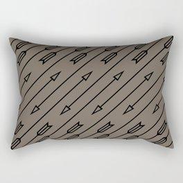 Arrows Flying (Gray Black) Rectangular Pillow