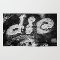 die hard Area & Throw Rugs featuring Die by SShaw Photographic