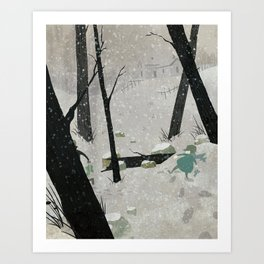 Midwestern Winter Art Print