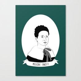 Dame Millicent Fawcett Illustrated Portrait Canvas Print
