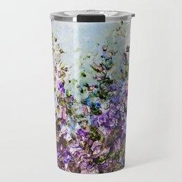 Floral Garden Impressionism in Pretty Purple Travel Mug