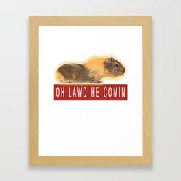 Funny Chonk Guinea Pig Meme Framed Art Print