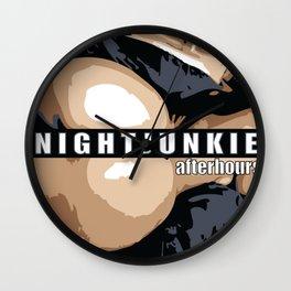 NIGHTJUNKIE AFTERHOURS Wall Clock
