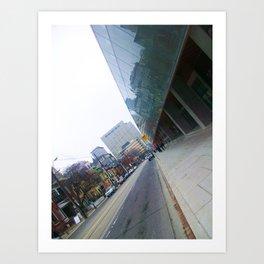 the city lines  Art Print