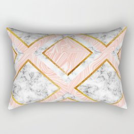 Gold and marble Rectangular Pillow