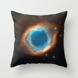 The Helix Nebula Space Photo Throw Pillow