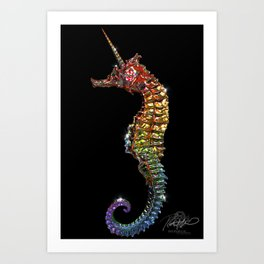 Magical Seahorse Art Print