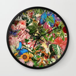 English Country Garden Wall Clock