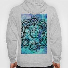Galaxy Mandala Aqua Indigo Hoody