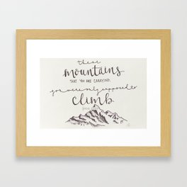 Climb Framed Art Print