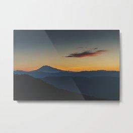 Mt Adams Sunrise - Pacific Crest Trail, Washington Metal Print