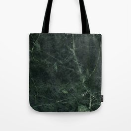 Dark Green Marble Texture Stone Tote Bag