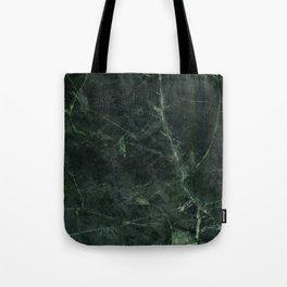 Dark Green Marble Texture Stone Tote Bag