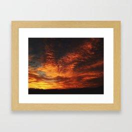 Simple Sunset Framed Art Print