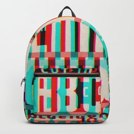 Gothic Display Type Glitch Version Backpack