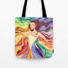 Rainbow Dancer Tote Bag