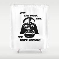 darth vader Shower Curtains featuring Darth Vader  by WTF-Arts