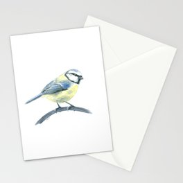Blue tit, watercolor painting Stationery Cards