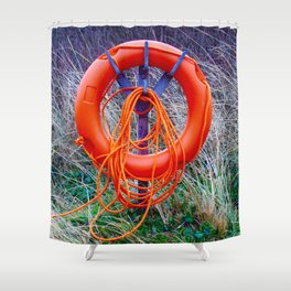 O Is For Orange Shower Curtain