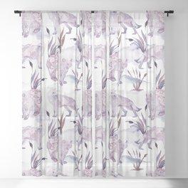 Boho Wild Animals  Sheer Curtain