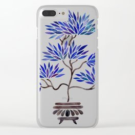 Bonsai Tree – Navy Palette Clear iPhone Case