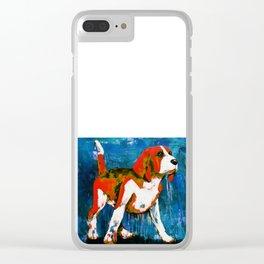 Orange Puppy Clear iPhone Case