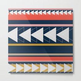 Geometric Triangle Art Metal Print