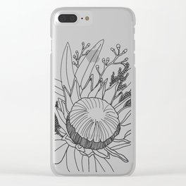 Native Australian Flower Clear iPhone Case
