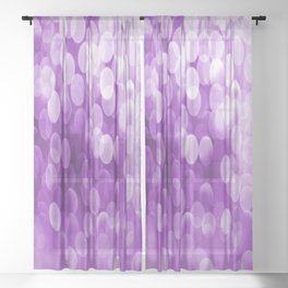 Bokeh Light Purple Tone #decor #society6 #buyart Sheer Curtain