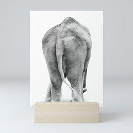 Black and White Elephant Mini Art Print