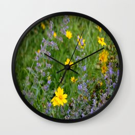 Wildflowers , Coreopsis and Tickseed Wall Clock