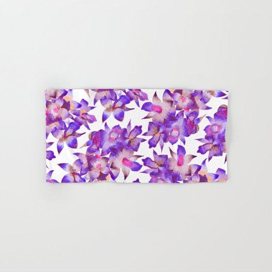 Vintage Floral Violet Hand & Bath Towel