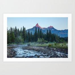 Pilot Peak - Mountain Scenery at Sunrise in Northeastern Yellowstone Art Print