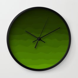 Dark Rich Forest Green Ombre Wall Clock