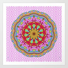 Mix&Match;  Pretty Pink Mandala Meditation pillow 02 Art Print